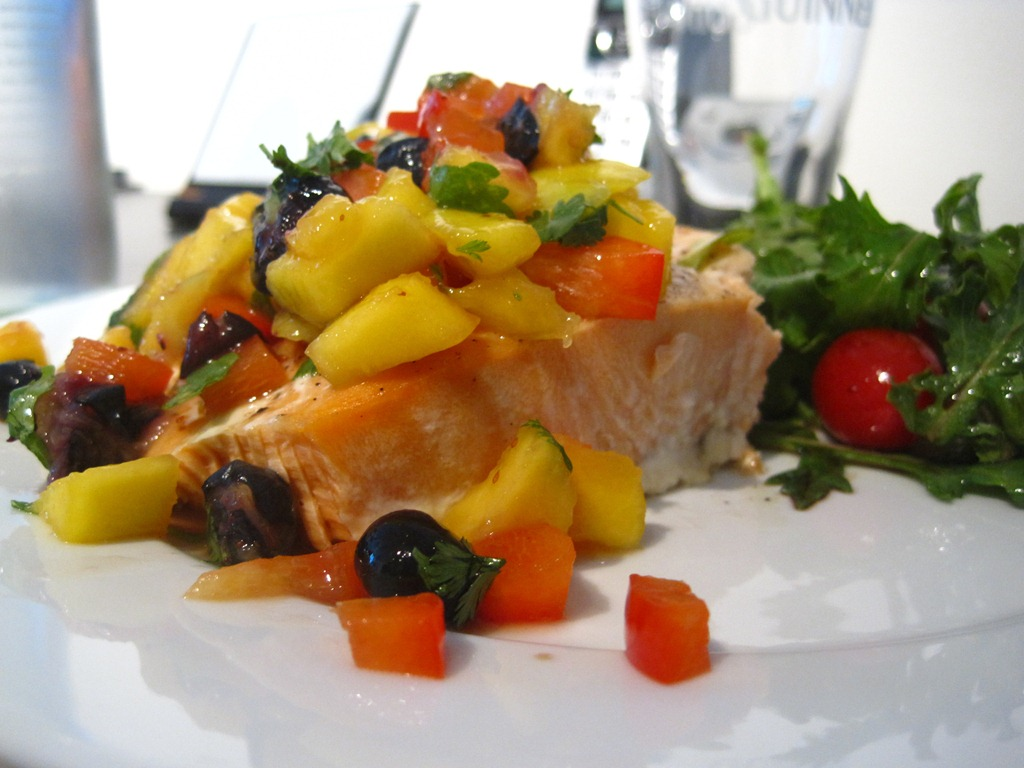 mango salsa coriander chicken with mango salsa with blueberry mango ...