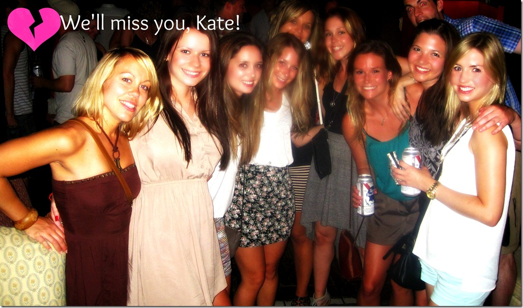 kates goodbye party