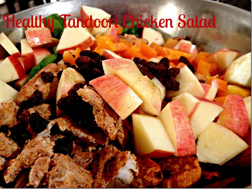 healthy tandoori chicken salad