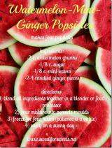 Watermelon-Mint-Ginger Popsicles