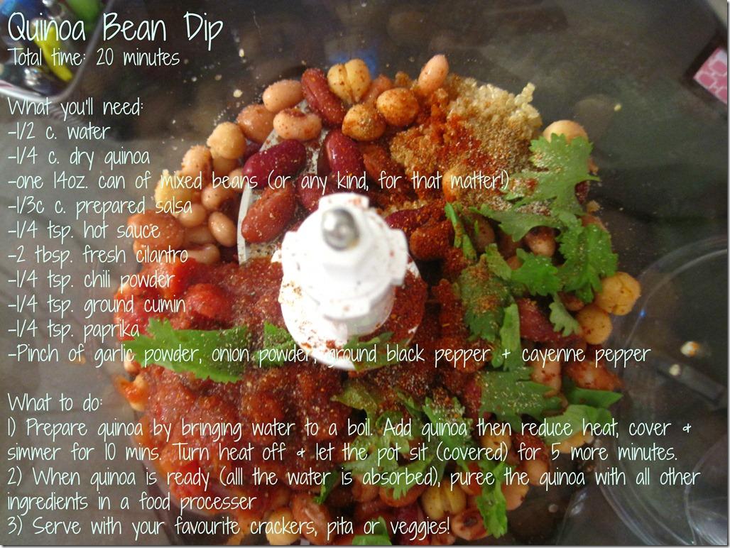 quinoa bean dip