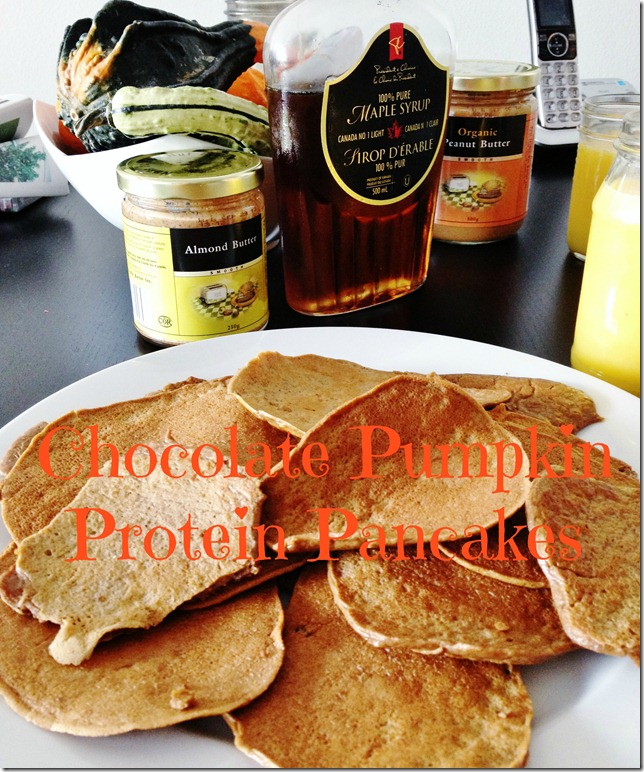 chocolate pumpkin protein panakes
