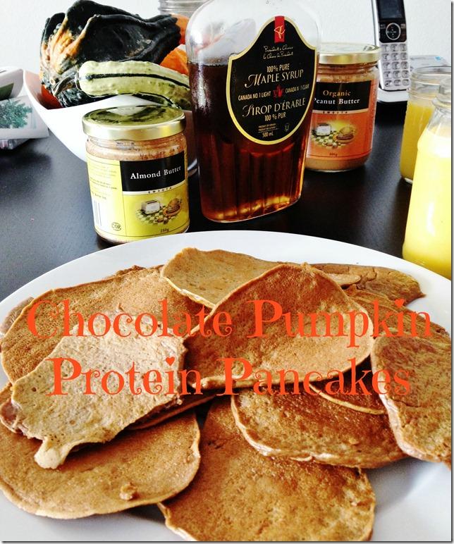 chocolate pumpkin protein panakes