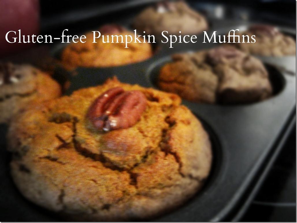 gluten-free pumpkin spice muffins